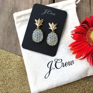 J. Crew Pineapple Sparkle Frosted Citrus Earrings